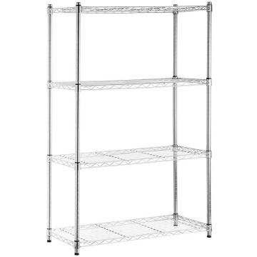 folding chromed wire shelving DIY workbench shelf